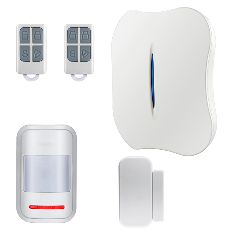 WiFi PSTN Home Burglar Alarm System Intelligent Alarm Android IOS APP Control Voice Prompt Alarm for safety life g4b gsm pstn home burglar alarm system more convenient portable home alarm system great design for a better safety life