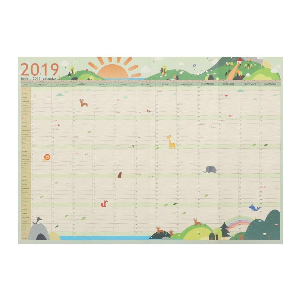 7 Styles 2019 365 Days Wall Calendar Paper Yearly Calendar Planner Day Schedule Agenda New Year Planner