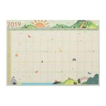 1 шт., горячая 7 видов стилей,, 365 дней, настенный календарь, бумага, годовой календарь, планировщик, ежедневник, новогодний планировщик