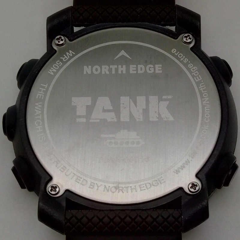 北エッジメンズスポーツデジタル腕時計時間水泳ミリタリーアーミー腕時計防水 50 メートルストップウォッチタイマー