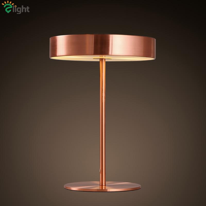 Nordic Metal Bedsides Lamp Led E14 Table Lamp Indoor Lighting Plated Metal Desk Light Copper Gold Black Minimalism Table Lamp