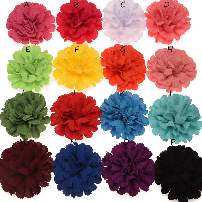 8pcs Big Tooth Flower Fashion Hair Flower Boutique Hair Accessory For DIY Headwear Flower Accessories No Clips