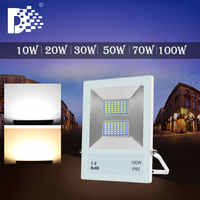 Lámpara led luz inundación 10W 20W 30W 50W led luces de inundación luz impermeable ip65 led proyector foco de lámpara iluminación exterior