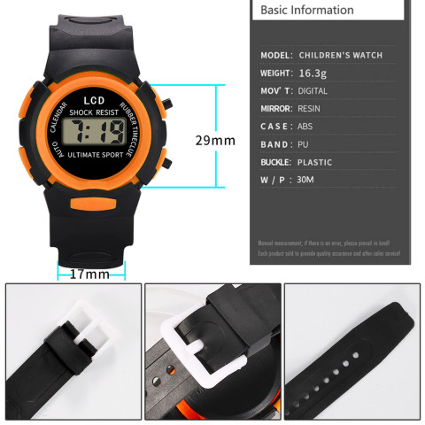 Sport Student Children Watch Kids Watches Boys Girls Clock Child LED Digital Wristwatch Electronic Wrist Watch for Boy Girl Gift Multan