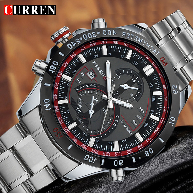 Hot CURREN watches men luxury brand 8149 clock reloj relogio masculino military quartz watch full stainless steel men wristwatch curren relogio watches 8103