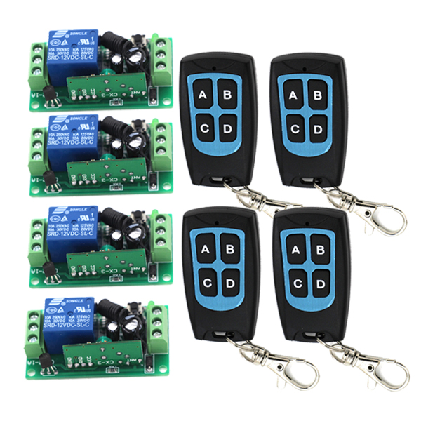 цена на DC12V 1CH Wireless Remote Switch RF Remote Control Switch teleswitch Remote Plug SKU: 5150