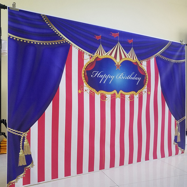 Circus Curtain Birthday Photography Backdrops Photo Background Party