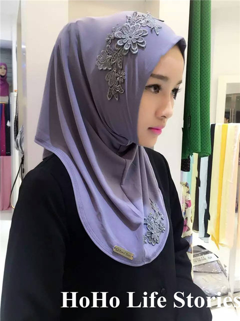 TJ43 Вышивка высокое качество мусульманские хиджабы шарф легко носить шифон новый стиль моды красивых женщин-мусульманок пашмины хиджаб