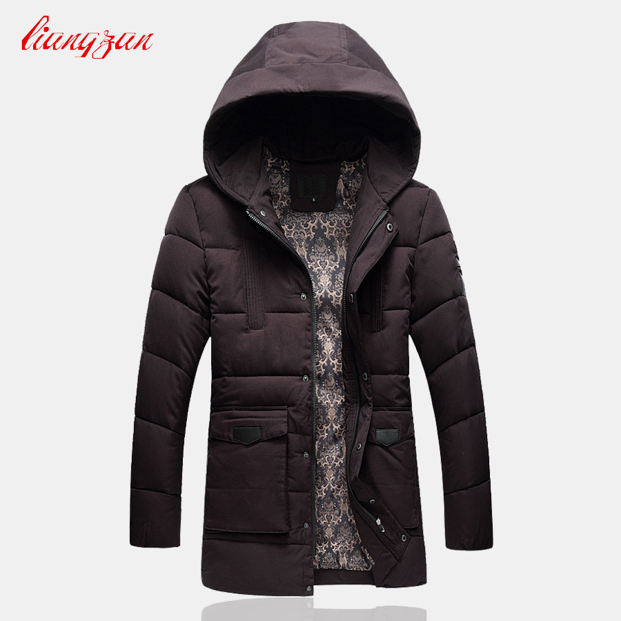 Men Winter Cotton Coats Snow Warm Long Hooded Overcoats Brand Male Casual Slim Fit Plus Size Jacket  Parkas SL-K182