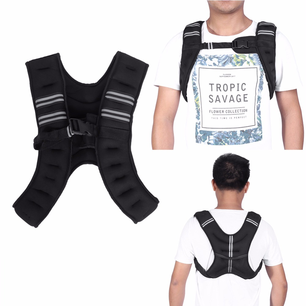 5kg Weighted Vest Workout Fitness Training Vest Running Bodybuilding Weight Vest Fitness Equipment