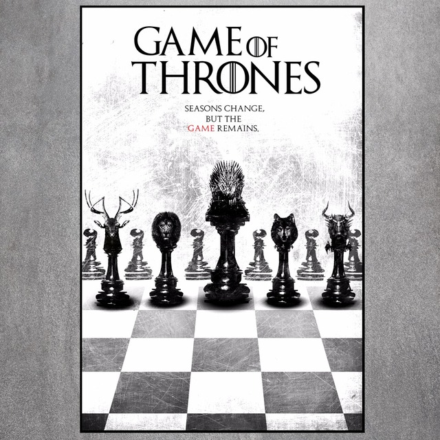 Game Of Thrones Vintage Retro Art Painting Canvas Poster Wall Decor ...