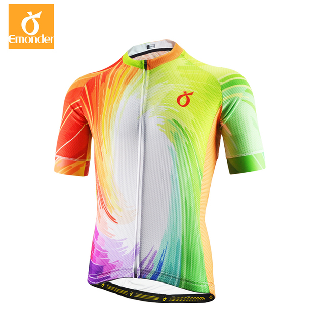 8262d5d8b EMONDER Men Cycling Jersey Tour France MTB Road Bike Jersey Breathable  Downhill Bicycle Clothing Racing Shirt Ropa Ciclismo 2018