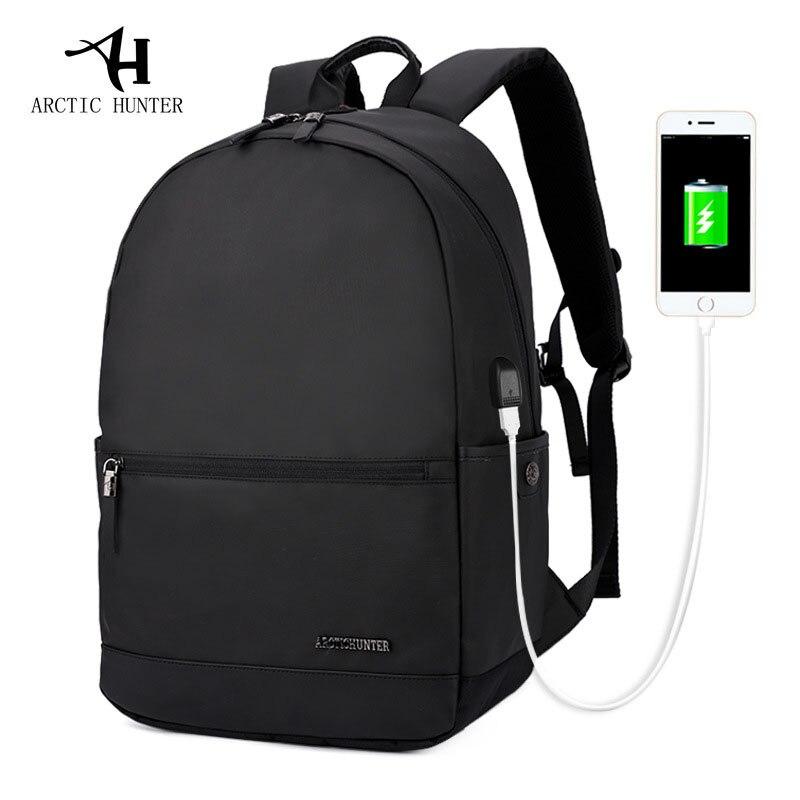 ARCTIC HUNTER Waterproof Backpacks Men External USB Charge Laptop Computer Bags Backpack For Men Bag Women Anti-theft School Bag