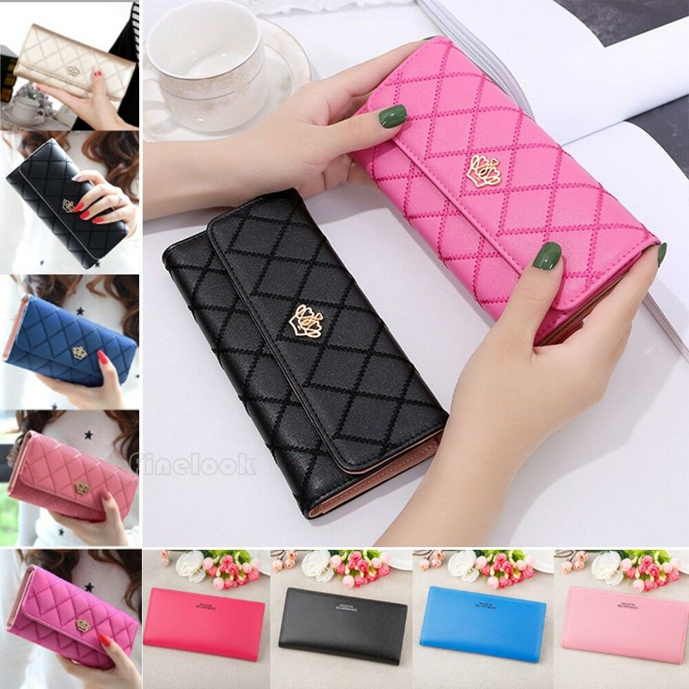 Women Long Card Holder Phone Bag Case Purse Clutch Leather Wallet lady Handbags