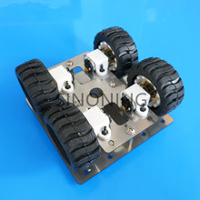 stainless steel metal 4WD robot Car chassis Platform N20 gear Motor