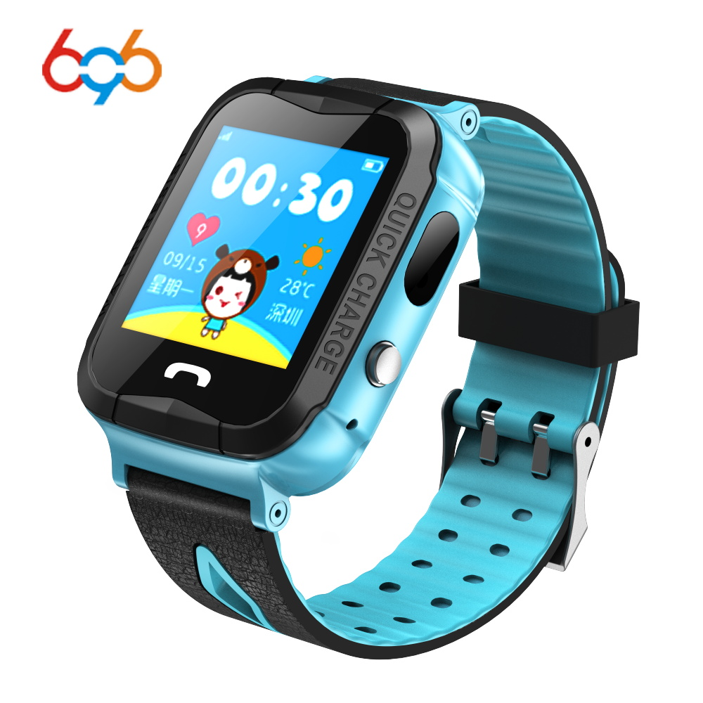 NEW Waterproof V6G <font><b>Smart</b></font> <font><b>Watch</b></font> GPS Tracker Monitor SOS Call with Camera Lighting Baby Smartwatch for <font><b>Kids</b></font> Child PK Q750 <font><b>Q90</b></font> image