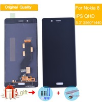 10pcs/lot For Nokia 8 2560x1440 5.3 LCD Display+Touch Screen Digitizer Assembly For Nokia8 N8 LCD Original Quality LCD Screen