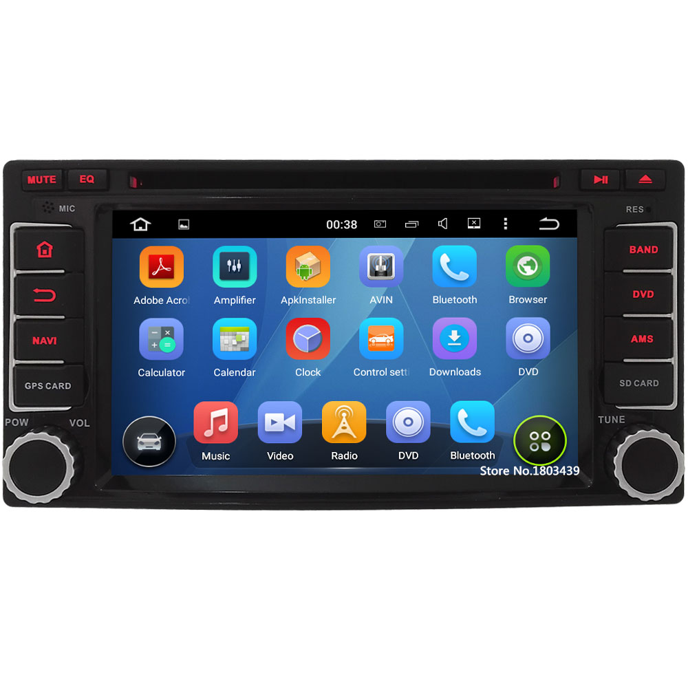 Quad Core 2Din Android 5.1.1 Car DVD Player Radio Stereo Screen USB BT FM DAB+ 4G WIFI GPS For Subaru Forester Impreza 2008-2013