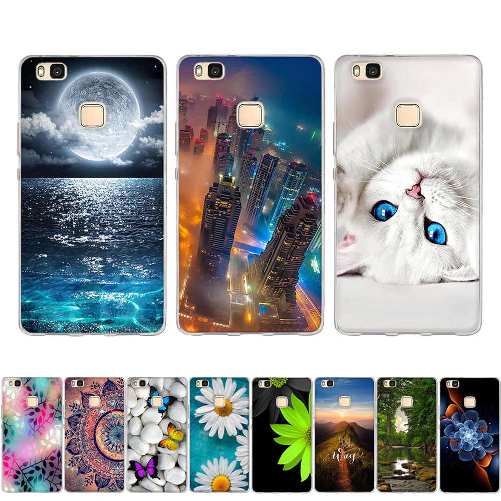 For Huawei P8 P9 Lite 2016 2015 Case Soft Silicone TPU Cover For Coque Huawei P9 Case 3D Cute Cat For Huawei P8 Lite Phone Cases