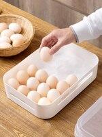 Visual refrigerator egg box food storage box egg tray 24 grid kitchen plastic egg grid