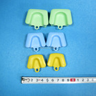6pcs dental mouth prop Cheeck Retractor silicone S/M/L size Mouth opener orthodontic intraoral lip cheek retractor for kid adult