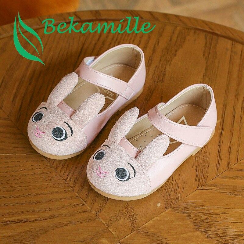 Autumn Girls shoes Kids princess cute Rabbit single shoes fashion baby performance shoes 3 colors
