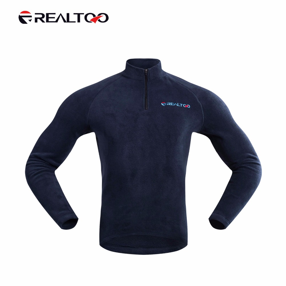 REALTOO Men Warm Cycling Jersey Bike Long Sleeve Shirt Polar Fleece Sportswear Riding Running Clothes Thick Keep Warm Jersey