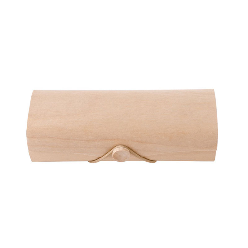 1 StÜck Tragbare Holz Sonnenbrille Box Fall Brillen Clam Shell Schutz Weihnachtsgeschenke