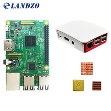 B Raspberry Pi 3 Starter Kit with Raspberry Pi 3 Model B + original pi 3 case + Heatsinks pi3 b / pi 3b with wifi & bluetooth