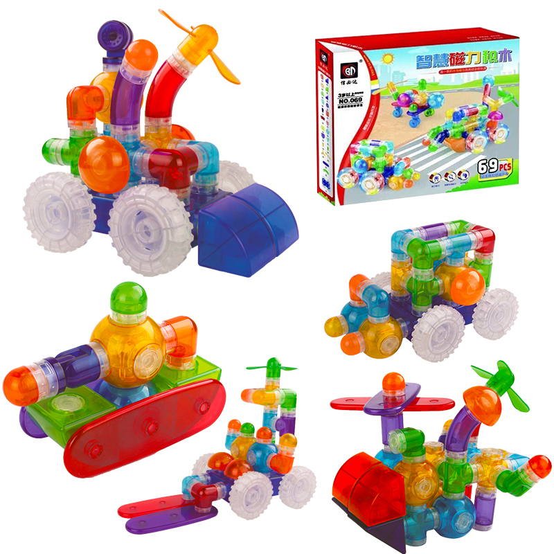 Fashion Children Baby Pipe Toys Magnetic Building Blocks Toys Model DIY Educational Construction Magnetic Designer Bricks 69 pcs hot sale 1000g dynamic amazing diy educational toys no mess indoor magic play sand children toys mars space sand