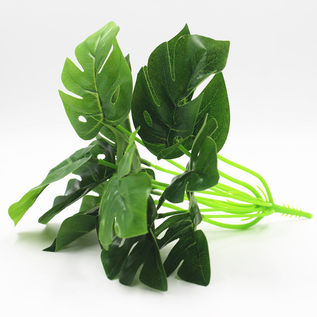 12 leaves Turtle leaves plants, Artificial tree,Artificial plants ...