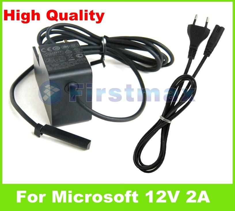 12V 2A 24W for Microsoft Surface RT/ Pro/ 2 AC Adapter Charger 1512 1513 1516 PA-1240-06MX PA-1240-07M2 US EU plug eu plug 12v 2a ac adapter tablets battery chargers for microsoft surface rt pro 2 windows 8 tablet pc 64gb 128gb 256gb 512gb