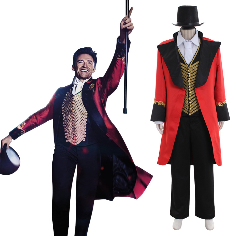 2017 The Greatest Showman Cosplay Costume Adult Mens The Greatest Showmen P.T. Barnum Cosplay Costume Version 1