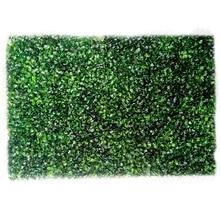 Plastic Artificial Plant Fake Grass Mat Greenery Panel Decor Fence Garden Lawn