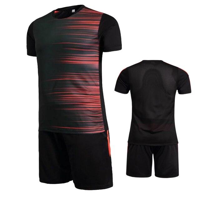 Бесплатная доставка 18 19 Цвет Для мужчин футбольные майки можно настроить  имя формы футбола костюмы спортивные c18a3547125
