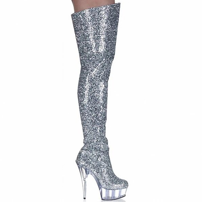 Boots Women Shoes High Heels Thigh Boots Fashion Glitter Boots Over Knee Fenty Beauty Gothic Shoes Ladies Nightclub Boots Boots Women Shoes High Heels Thigh Boots Fashion Glitter Boots Over Knee Fenty Beauty Gothic Shoes Ladies Nightclub Boots