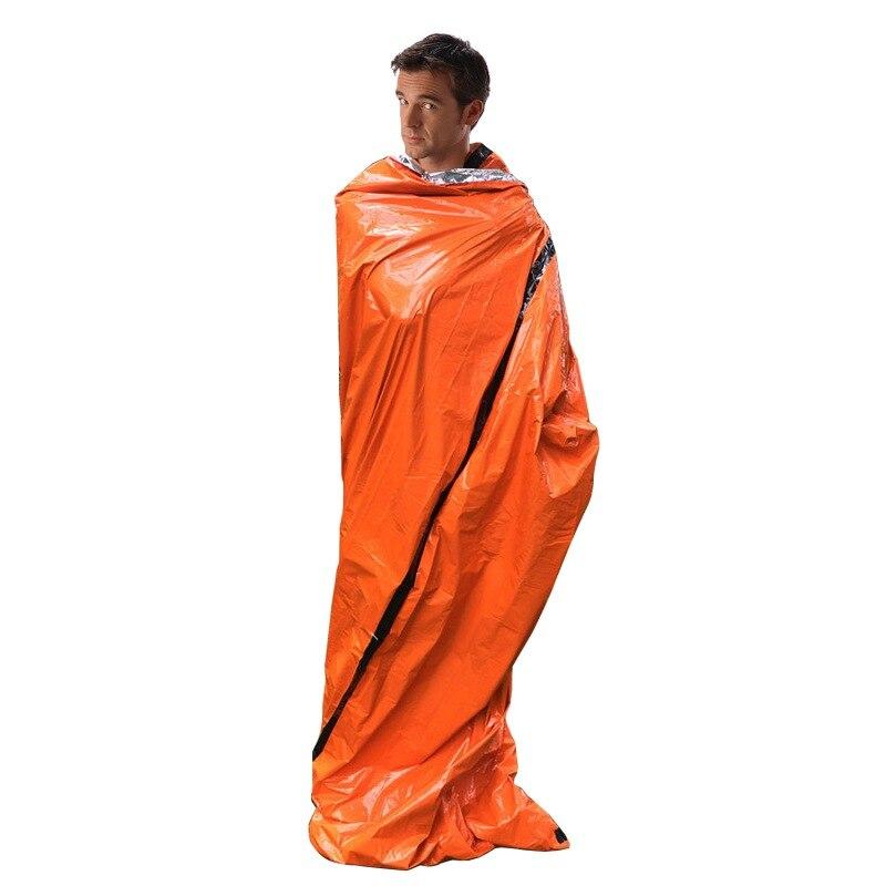 Saco de dormir de emergência primeiros socorros saco de dormir pe película de alumínio tenda para acampamento ao ar livre e caminhadas proteção solar