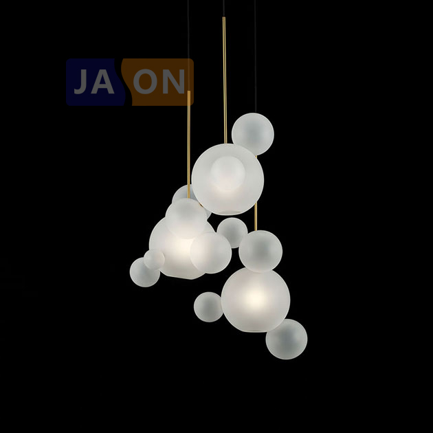 LED Postmodern Iron Glass White Bubbles Designer Chandelier.Chandelier Lighting LED Light LED Lamp For Dinning Room Foyer