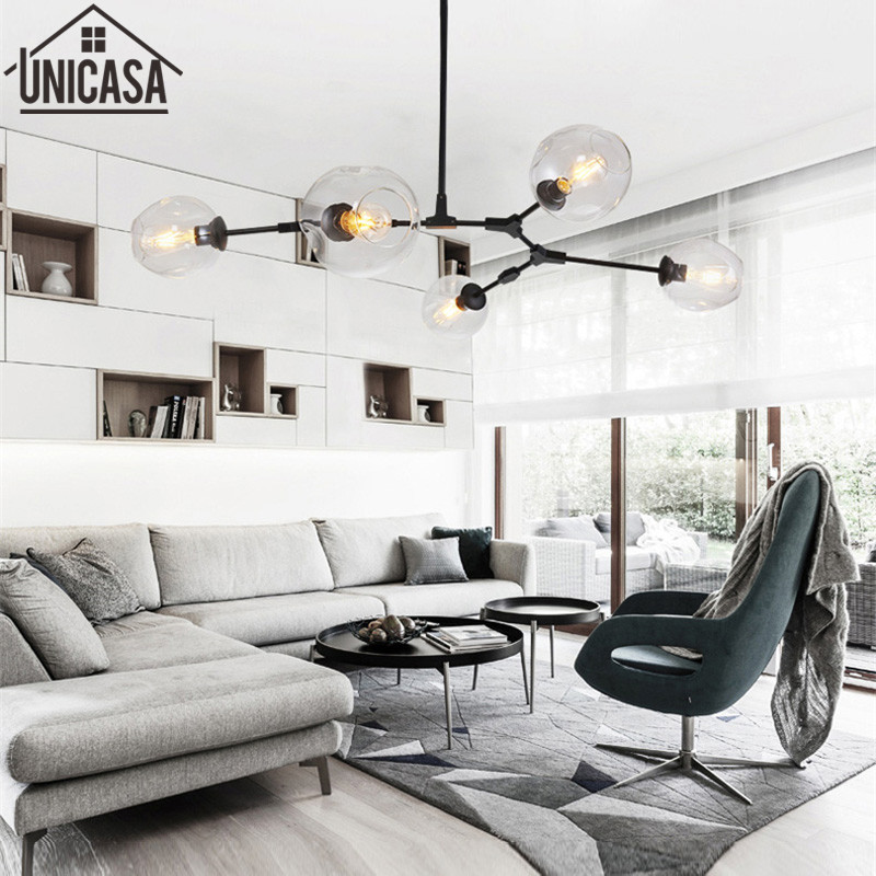 Modern pendant light kitchen B celling lamp for home decoration Bar large lighting elegant lights Postmodern glass lamps modern pendant lights kitchen for home decoration lighting bar elegant light postmodern golden celling lamp clear glass lamps