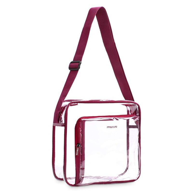 MOSISO Transparent PVC Shoulder Bags Women Clear Crossbody Bag Purse Solid Color Large Capacity Messenger Bag Shopping Travel