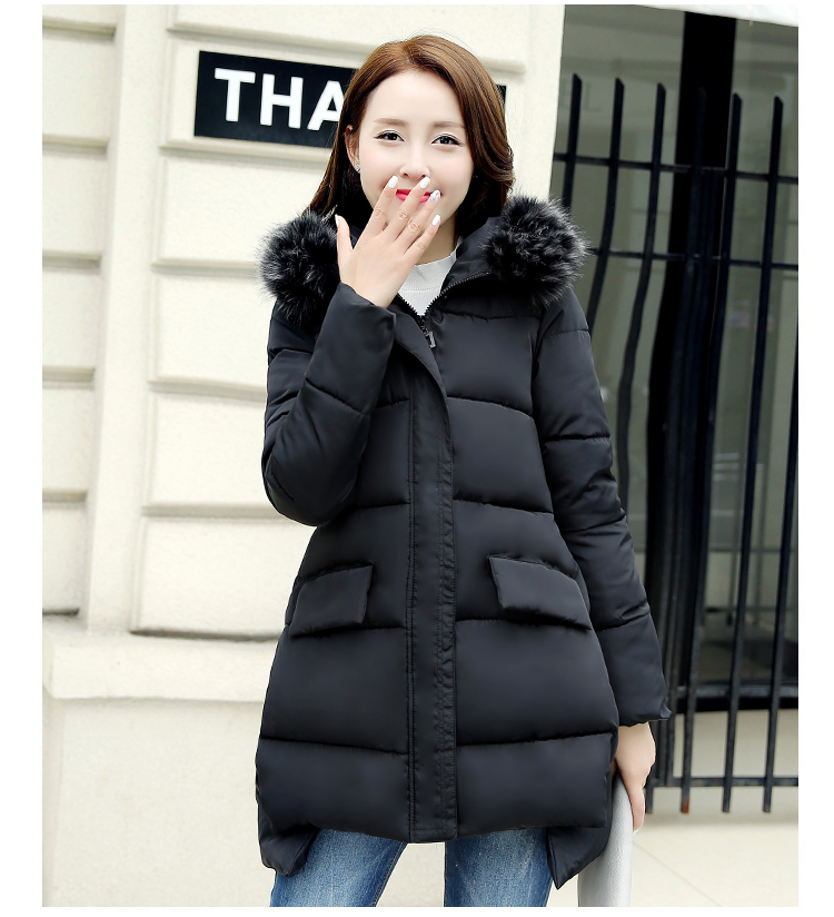 Snow Wear Faux Fur Hood Parka Winter Jacket Women Thick Warm ...