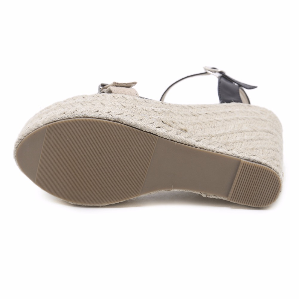 De Cáñamo Zapatos Paja Dorcxewb Mujeres Plataforma Gladiador Sandalias 4L35ARj