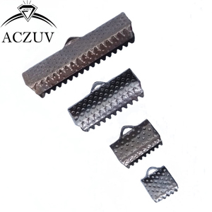 Image 5 - 1000 sztuk 6mm 8mm 10mm 13mm 16mm 20mm 25mm 30mm 35mm sznur wstążkowy koniec łączniki klamrami klipy szydełkowane koraliki biżuteria ustalenia RCE001