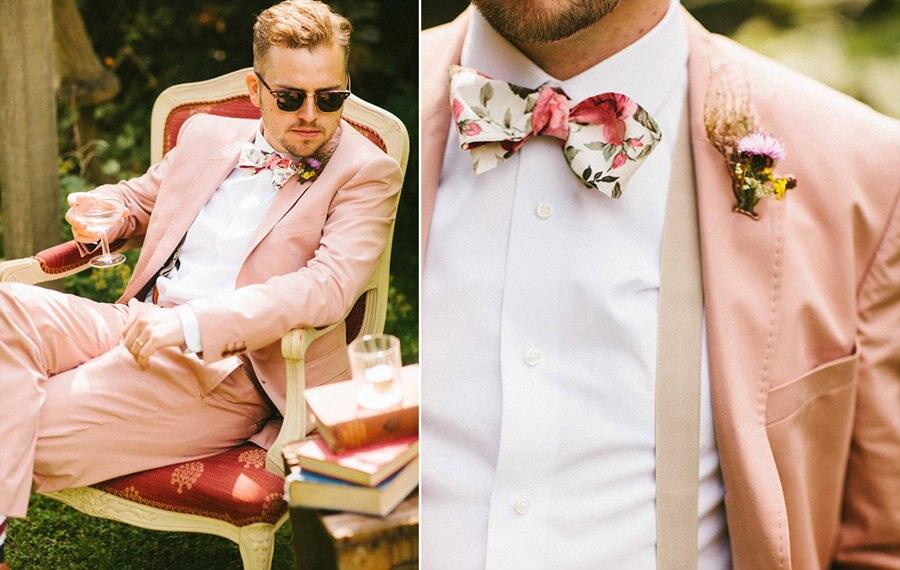 970 Latest Coat Pant Designs Hot Pink Wedding Suits for Men Groom Jacket Slim Fit 2 Piece Tuxedo Custom Prom Blazer Masculino