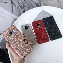 Note9 Glitter Case For Samsung J4 J6 Plus A7 A8 A9 2018 Bling Cover for Galaxy S8 S9 Note 8 Silicone