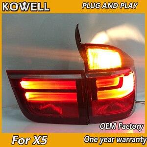Image 3 - Kowell Styling Auto Lampada di Coda per Bmw E70 X5 Luci di Coda 2007 2013 per E70 Posteriore Luce Drl + indicatori di Direzione + Freno + Reverse