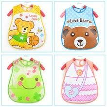 Baby Bibs EVA Waterproof Saliva Towel Scarf Lunch Boys Girls Cartoon Infant Bibs Burp Cloths For Children Feeding Care