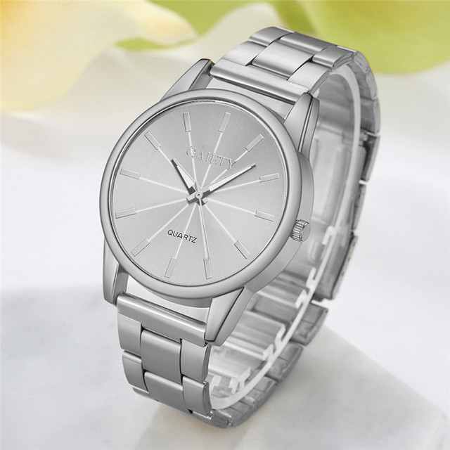 Fashion Gold Silver Quartz Watch Women Famous Wrist Watch Luxury Full Stainless