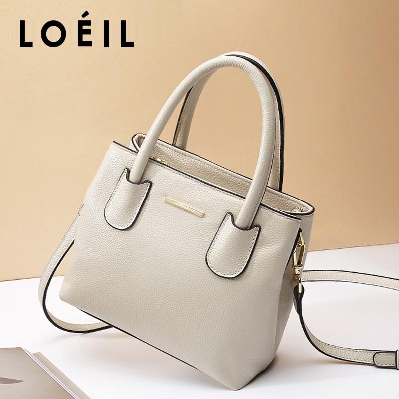 LOEIL 2018 new leather female bag women's shoulder slung handbag bag female European and American fashion small square bag недорого
