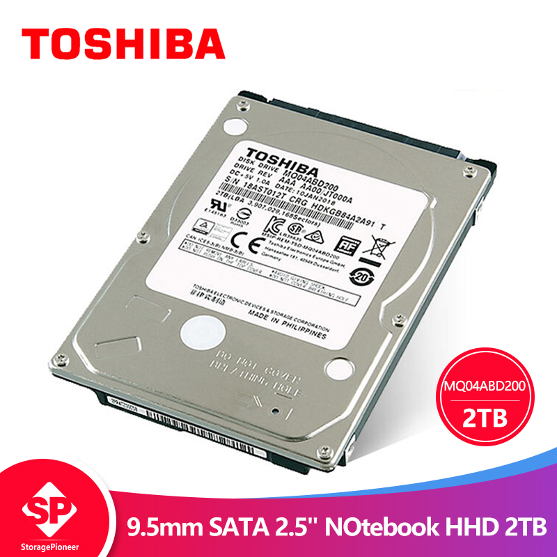 TOSHIBA 2 TO Interne HDD HD 2.5 5400 RPM 128 M Cache 9.5mm SATA3 D'origine pour Ordinateur Portable Portable MQ04ABD200